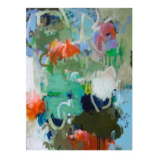 """Gina Cochran """"On With the Show"""" Contemporary Mixed Media Paining"""