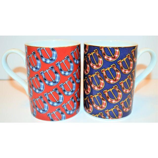 Ceramic Vintage Gucci Porcelain Mugs - a Pair For Sale - Image 7 of 9