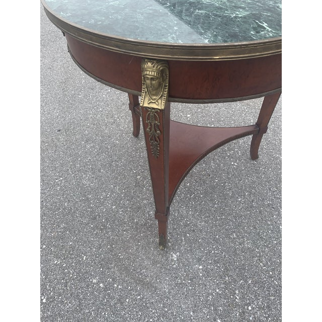 Late 20th Century Vintage John Widdicomb Empire Gueridon Table For Sale - Image 5 of 9