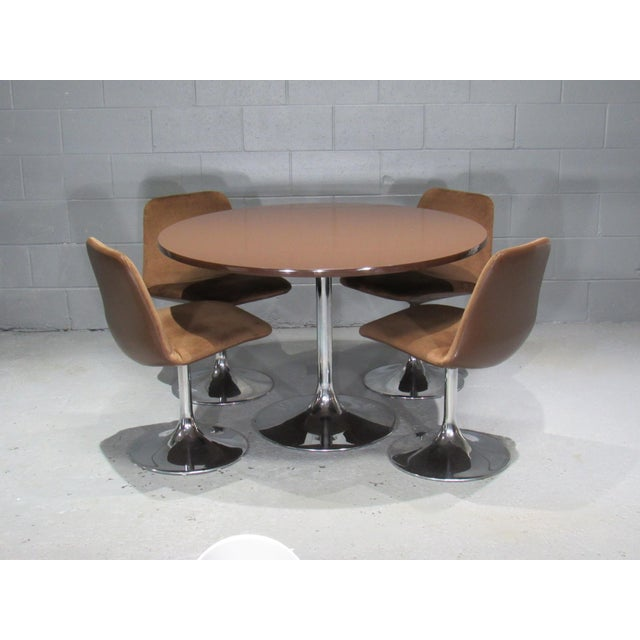 Chrome Tulip Table and Four Dining Chairs by Borje Johanson- Set of 4 For Sale - Image 9 of 9