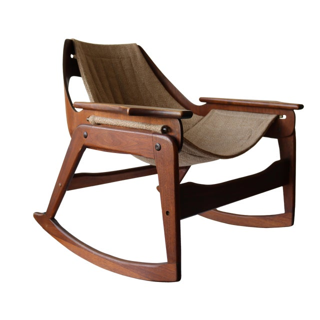 1970's Boho Jerry Johnson Sling Rocking Chair - Image 1 of 8