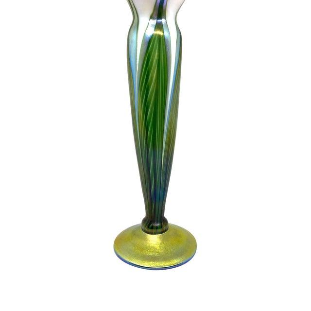 Contemporary Contemporary Lundberg Studio Art Glass Floriform Vase For Sale - Image 3 of 5