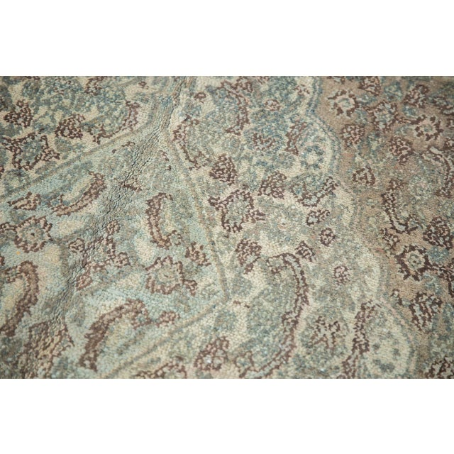 "Old New House Vintage Distressed Bibikabad Carpet - 9'5"" X 18'2"" For Sale - Image 4 of 13"
