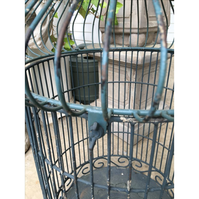 Vintage Bird Cage Planter For Sale - Image 6 of 6