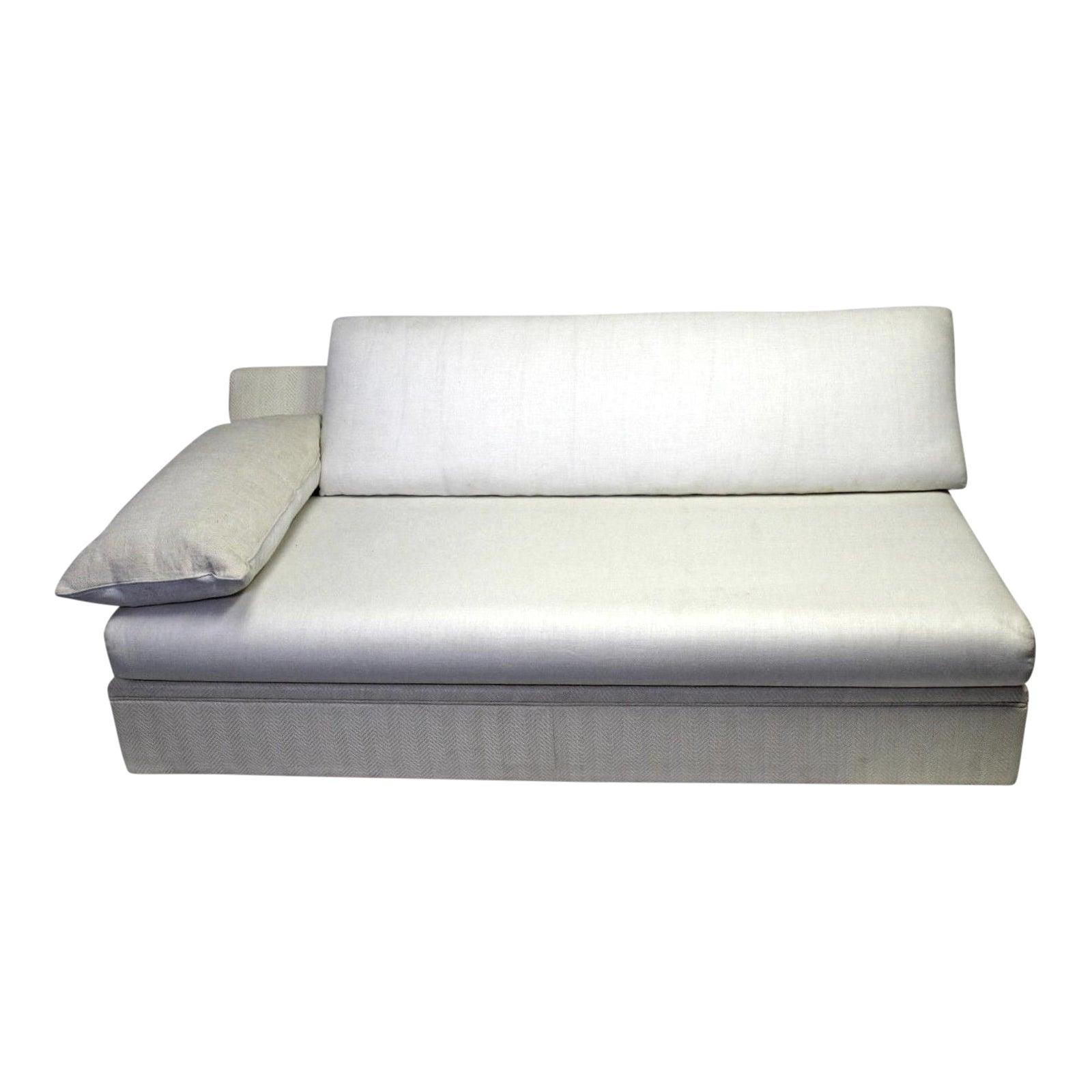 Modern Designer Armless Sofa Settee | Chairish