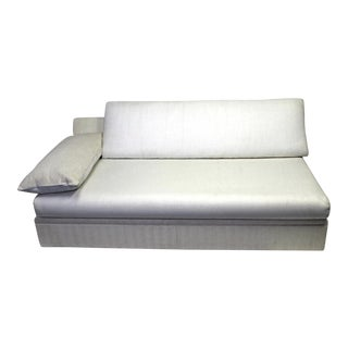Modern Designer Armless Sofa Settee For Sale