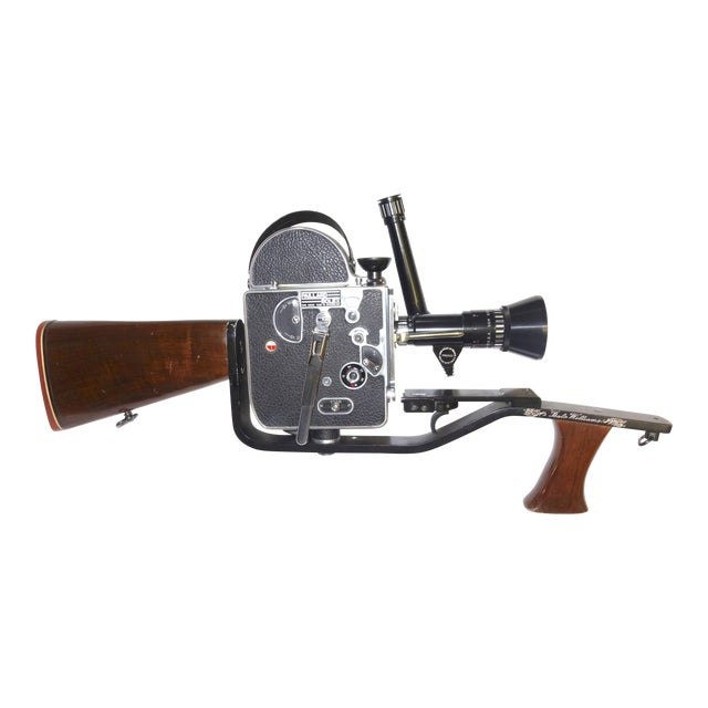 Custom Hand Built Wood Hunting Gunstock and Fitment Carraige and Handgrip For A Bolex Movie Camera. Built By The Famous Gunsmith Dale Williams . For Sale