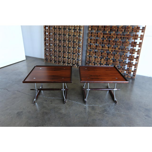 Danish Modern Jens Quistgaard Rare Pair of Rosewood Tables for Nissen Denmark, 1960 For Sale - Image 3 of 13