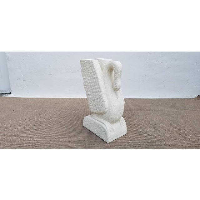 Sculptural Swan Shape Plaster Accent Table For Sale - Image 4 of 12