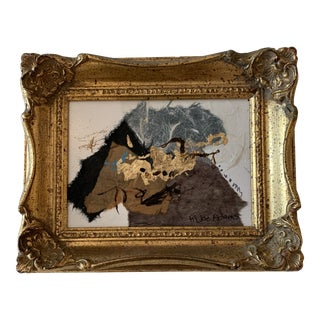 Joe Adams Collage in Old Gold Frame For Sale