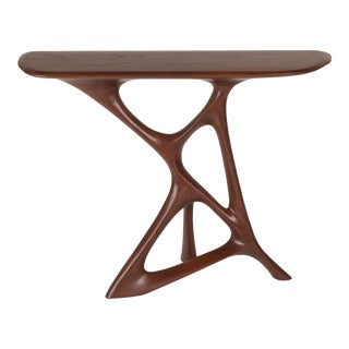 Anika Console in Walnut Finish For Sale
