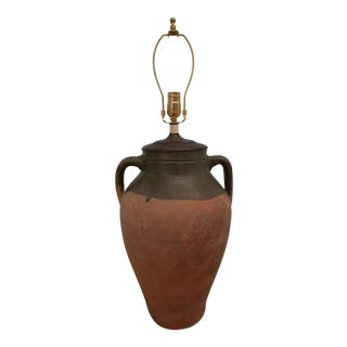French Olive Jar Lamp For Sale