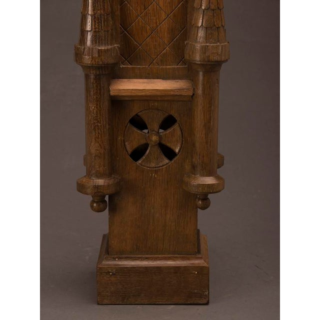 19th Century Wood Carved Small Scale Medieval Tower Model For Sale In Houston - Image 6 of 6