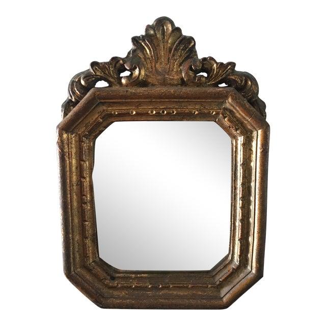 Antique Small Decorative Gilt Mirror For Sale