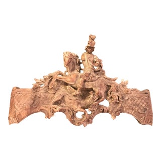 French Rococo Carving of St George and the Dragon, Large-Scale For Sale