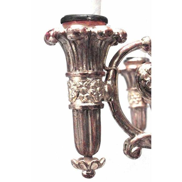 Austrian Biedermeier Gilt Carved Chandelier For Sale - Image 4 of 7