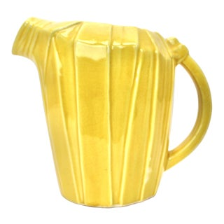 McCoy Yellow Bamboo Stalk Pitcher For Sale
