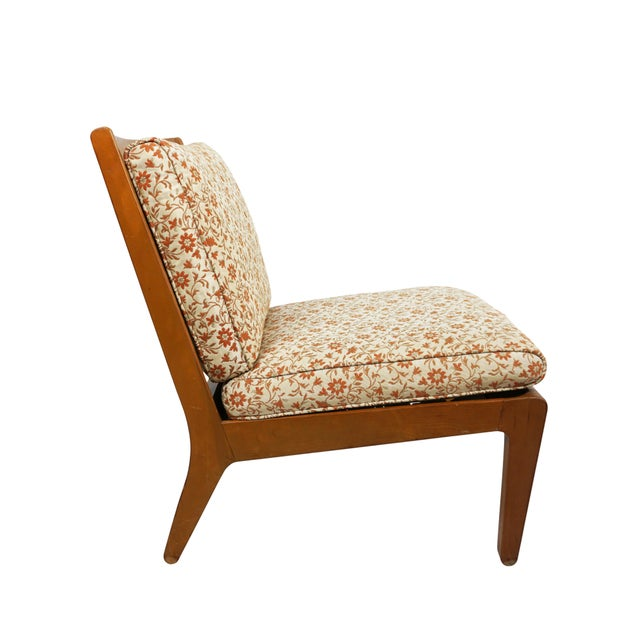 """Drexel Mid Century Edward Wormley Drexel """"Precedent"""" Slipper Chairs - a Pair For Sale - Image 4 of 8"""