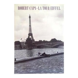 "Robert Capa Rare Vintage 1988 Photo Lithograph Print Collector's Poster "" La Tour Eiffel "" 1952 For Sale"