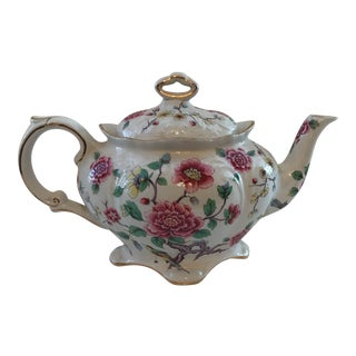 "1960's Vintage Old Foley James Kent Ltd ""Chinese Rose"" Teapot For Sale"