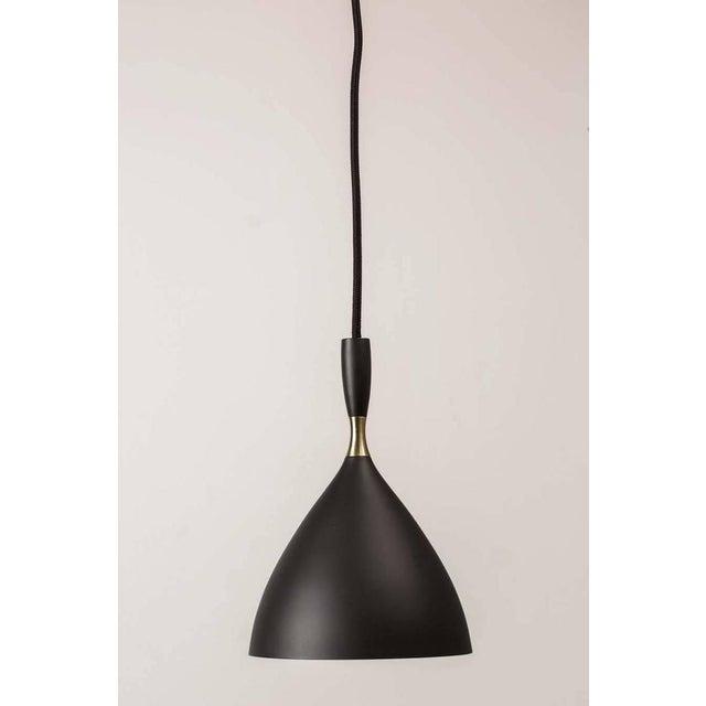 Birger Dahl Brass & Metal Scandinavian Modern Pendant Light For Sale In Los Angeles - Image 6 of 6