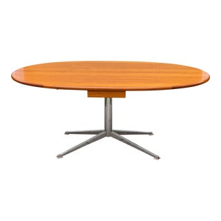 Vintage Teak & Chrome Table Florence Knoll Style For Sale