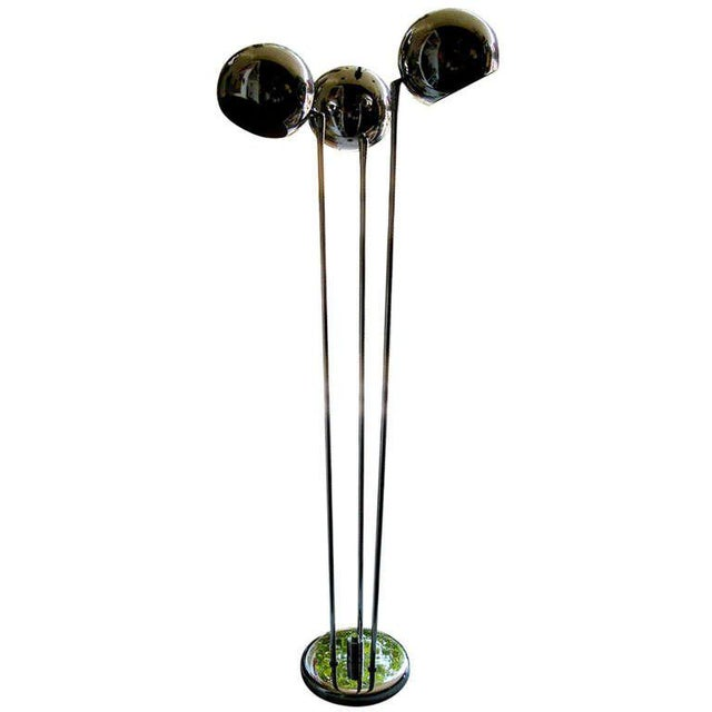 Very Chic Mid-Century Three Light Floor Lamp For Sale - Image 4 of 4
