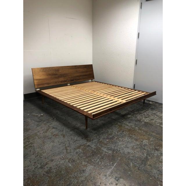 Herman Miller Herman Miller Nelson Walnut Thin Edge King Bed For Sale - Image 4 of 11