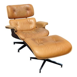 Mid-Century Modern Herman Miller Lounge Chair & Ottoman For Sale