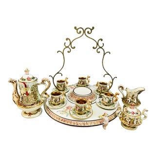 1950s Vintage Capodimonte Tea Service - Set of 16 For Sale