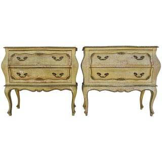 Mid-20th Century Pair of Italian Hand-Painted Bombay Chest For Sale