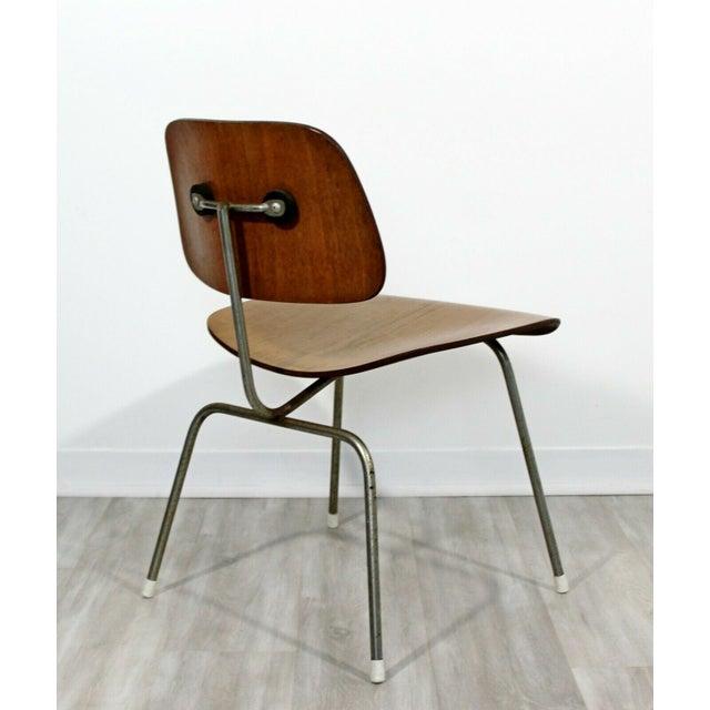 Herman Miller Mid Century Modern Early Original Eames Herman Miller Dcm Side Chair 1950s For Sale - Image 4 of 8