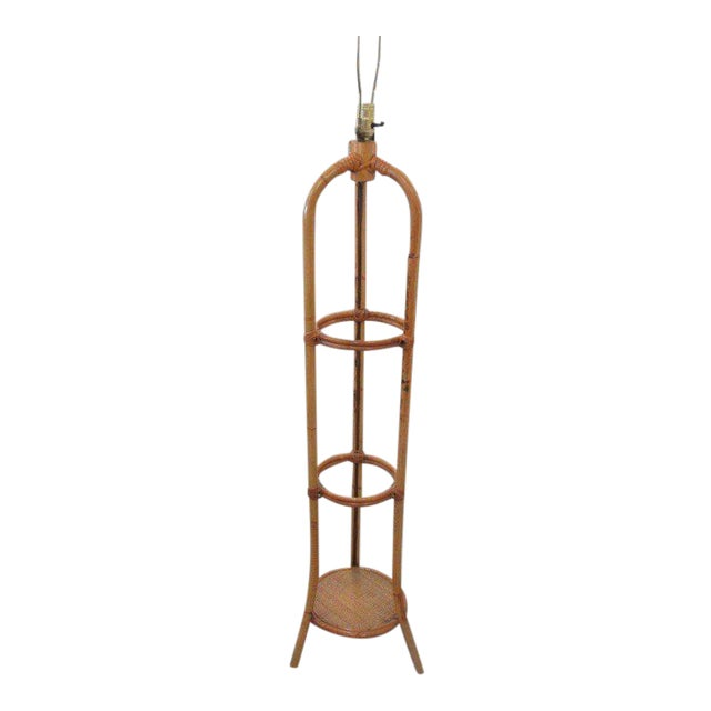 Rattan Floor Lamp - Image 1 of 7