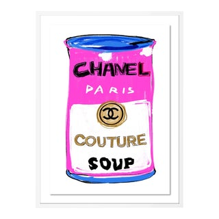 Chanel Couture Soup by Annie Naranian in White Frame, Medium Art Print For Sale