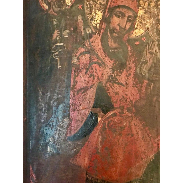 17th Century Antique Russian Orthodox Painting For Sale In New York - Image 6 of 13