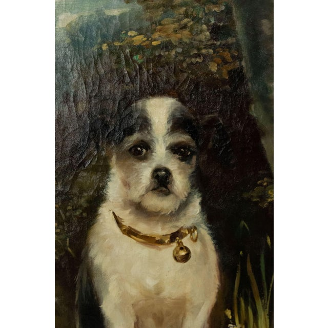 Victorian French Victorian Terrier Oil Painting For Sale - Image 3 of 7