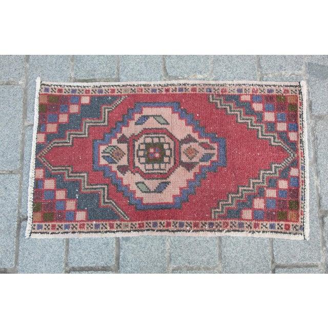 Turkish Nomadic Wool Carpet - 1′8″ × 2′10″ - Image 9 of 9