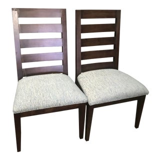 Thomasville Furniture Studio 1904 Collection Timber Brown Side Chairs - A Pair For Sale