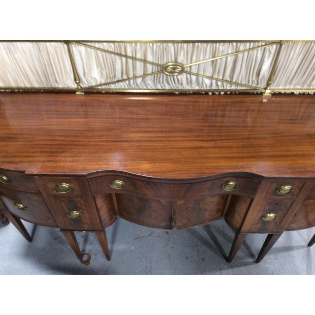 1940s Hepplewhite Style Mahogany Sideboard With Inlay For Sale - Image 4 of 10