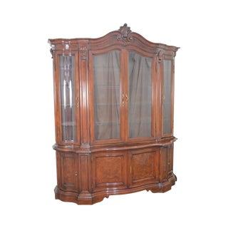 Karges Monumental Venetian Style Walnut Serpentine Breakfront Cabinet