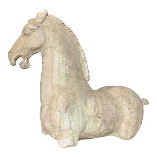 A Grand Tour Style Classical Horse Statue Plaster Replica For Sale