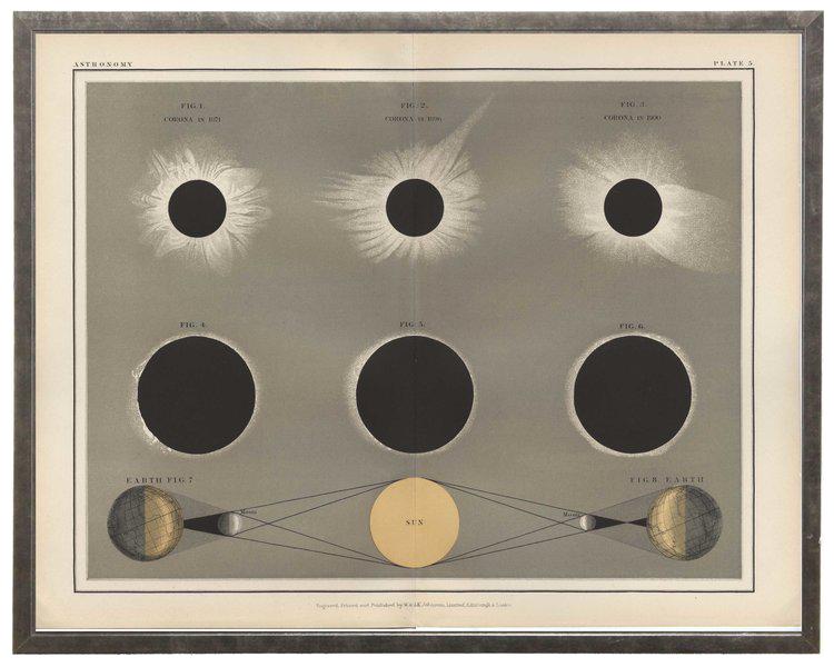 Sun Moon Print In Frame 26 14 X 21 14 Chairish