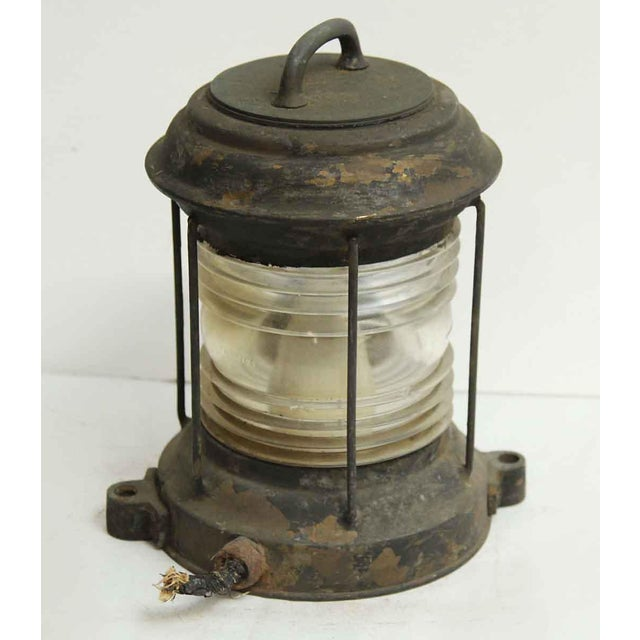Nautical Lantern With Corning Glass - Image 4 of 7