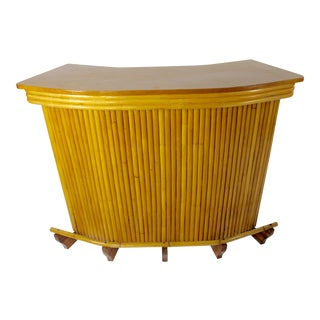 1950s Mid Century Modern Bamboo Bar For Sale