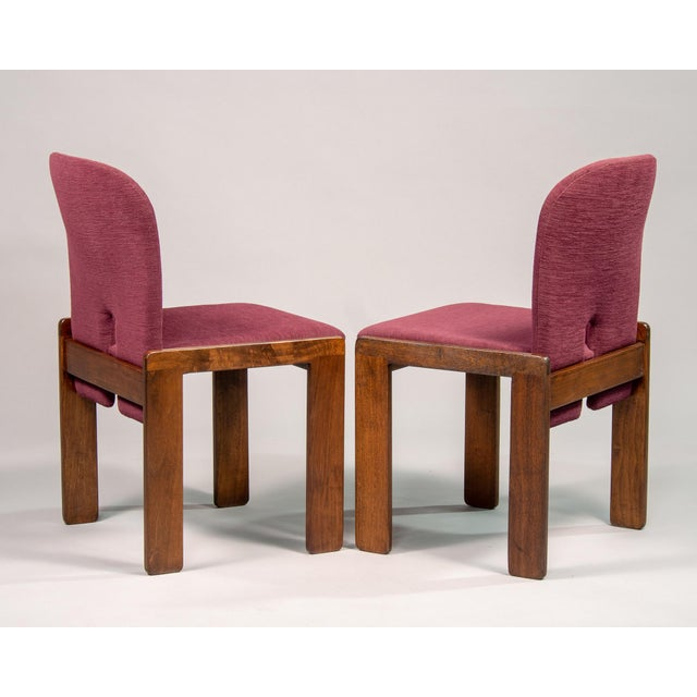Cassina Afra and Tobia Scarpa 121 Walnut Dining Chairs for Cassina, Set of 8 For Sale - Image 4 of 11