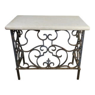 19th C. French Wrought Iron Console For Sale