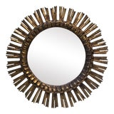 Image of 1960s Mid-Century French Sunburst Mirror For Sale