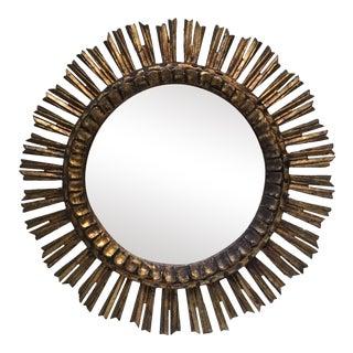 1960s Mid-Century French Sunburst Mirror For Sale