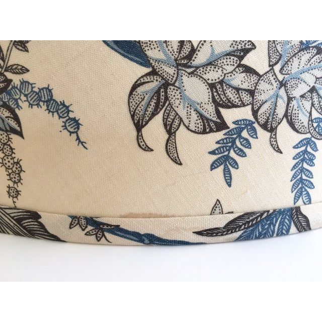 Designer Blue Tropical Toile Lamp Shade - Image 8 of 8