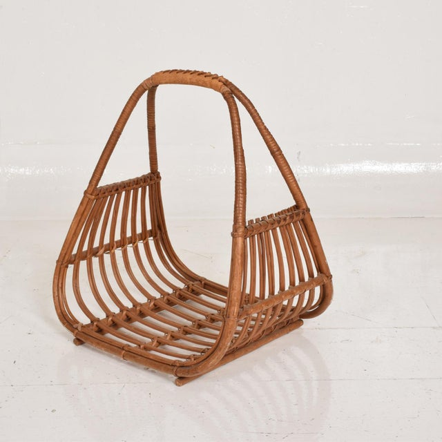 1960s Franco Albini Italian Mid-Century Modern Magazine Rack Holder Basket For Sale - Image 5 of 11